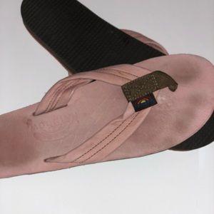 Pink Rainbow Sandals.